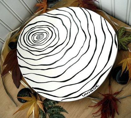 Custom Made Black & White Painted Bowl