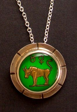 Custom Made Taurus Zodiac Symbol Charm Necklace
