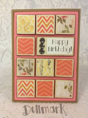 "Custom Made Handmade Greeting Cards ""Birthday"" For Girls And Women"