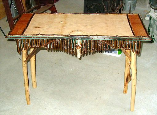 Custom Made Birch & Twig Library Table