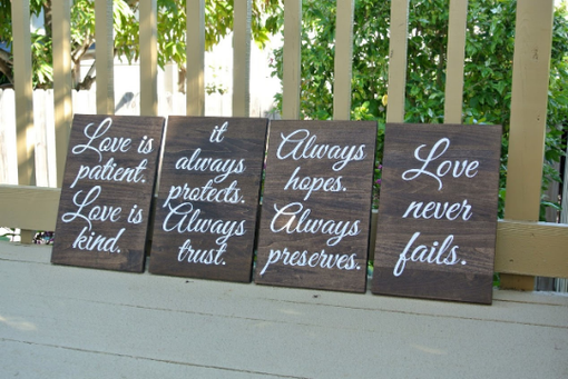 Custom Made Wood Wedding Aisle Signs, Rustic Wooden Decor Wedding Ceremony