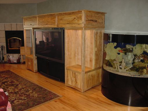 Custom Made Spalted Maple Entertainment Center