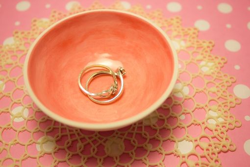 Custom Made Ring Bowl : Small Porcelain Ring Dish