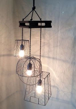 Custom Made Egg Farm Basket Chandelier