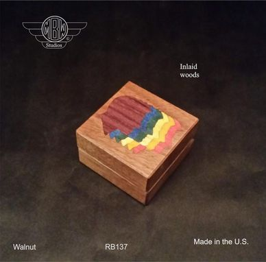Custom Made Ring Box, Rainbow Male.  Rb-137
