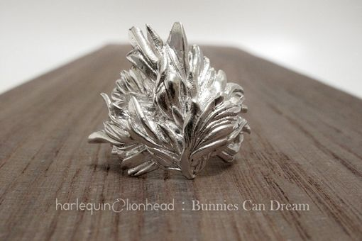 Custom Made Whirls Collection - No. 2 Ring White Gold Plated