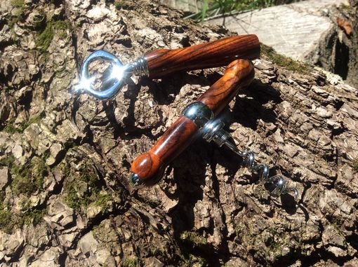 Custom Made Cocobolo Bottle Opener And Cork Screw