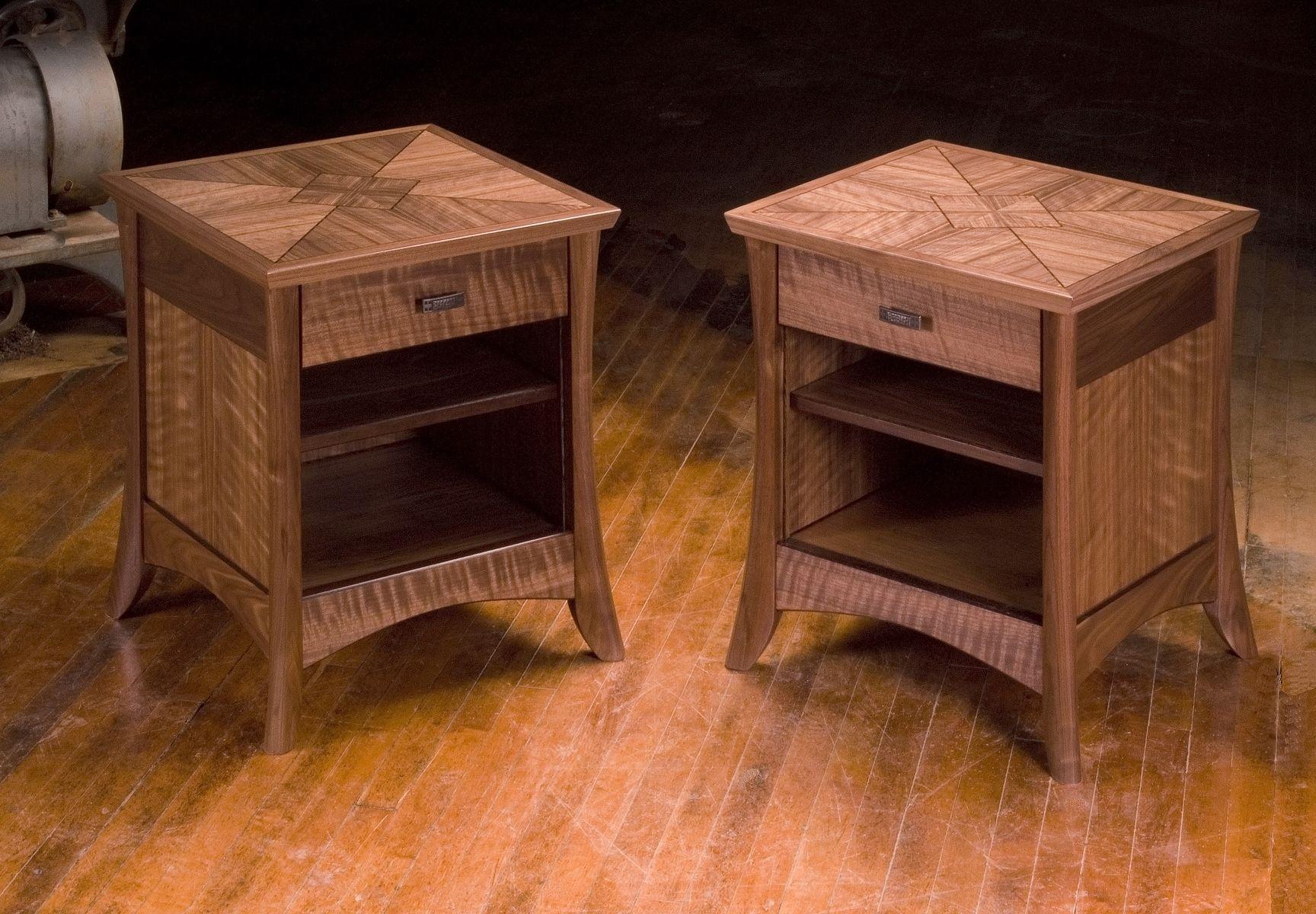 Night Stand Table Designs : Handmade walnut night stands by neal barrett woodworking