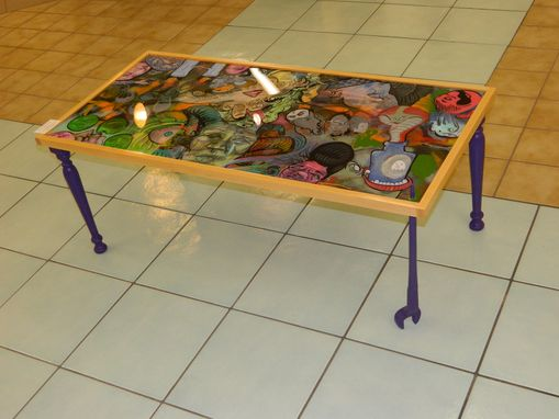 Custom Made Spud Wrench Tattoo Table
