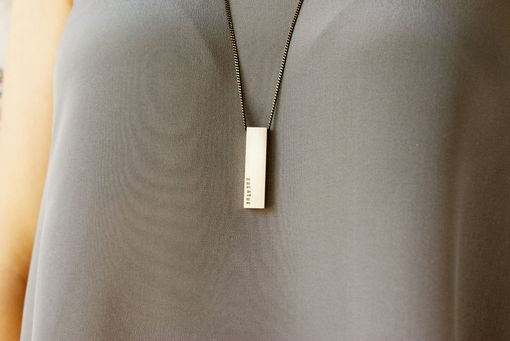 Custom Made Personalized Morse Code Bar Necklace, Brass Bar Necklace, Custom Message