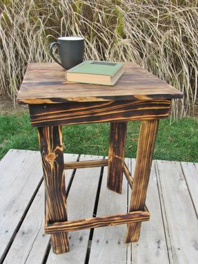 Custom Made Nightstand Side Table Made From Reclaimed Pallet Wood