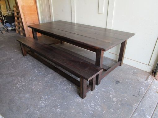 Custom Made Dining Table And Bench