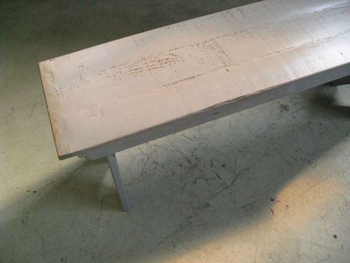 Custom Made Hand Painted Pine Plank Benches