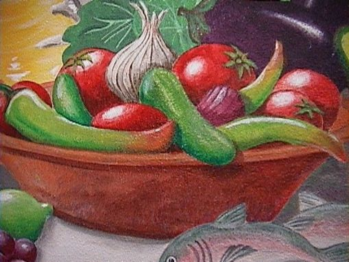 Custom Made Vegetable Paintings In Acrylic