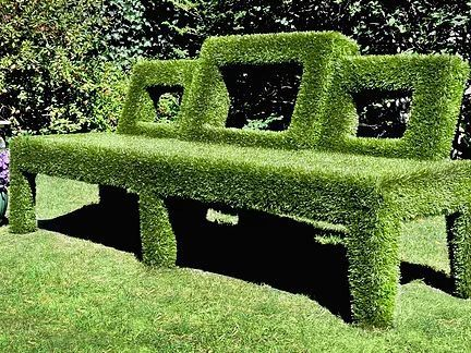 Custom Made Outside Astro Turf Storage Bench