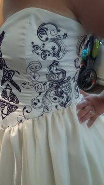 Custom Made Stunning Celtic Themed Wedding Gown