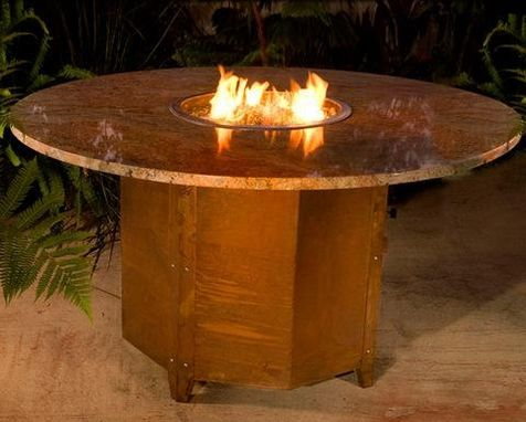 Custom Made Mammoth Dining Fire Pit Table