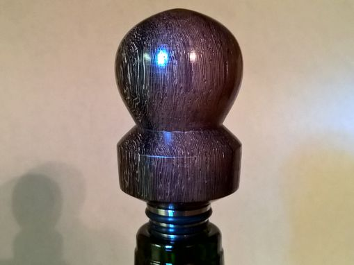 Custom Made Wine Bottle Stopper. Rosewood And Solid Stainless Steel