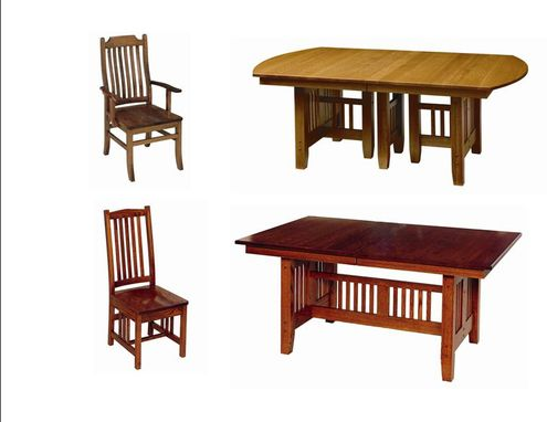 Custom Made Mission Dining Furniture
