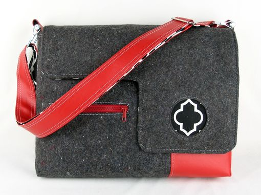 Custom Made Custom Felt And Vinyl Laptop Bag