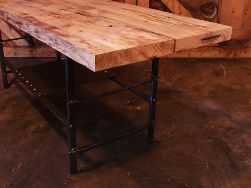 Custom Made Rustic Hemlock Table