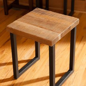 Reclaimed Oak Wood End Table Entry Way For Living Room Side In Custom Size