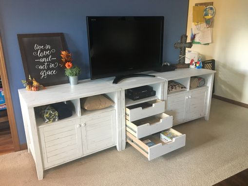 Custom Made Distressed Three Piece Entertainment Center