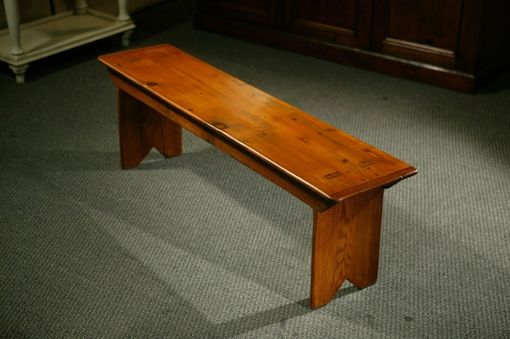 Custom Made Custom Made Rustic Barn Wood Plank Bench