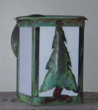 "Custom Made Solid Copper Outdoor Lantern. ""Small Sapling"""