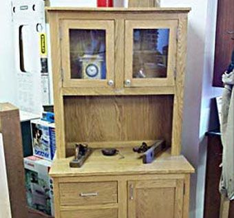Custom Made Custom Oak Hutch