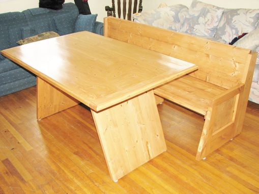 Custom Made Modern Table And Bench