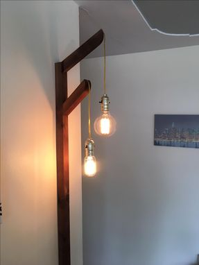 Custom Made Edison Bulb Wall Lighting Tree