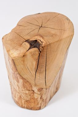 Custom Made Natural Log Side Table