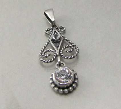 Custom Made Sterling Silver And Gemstone Pendant