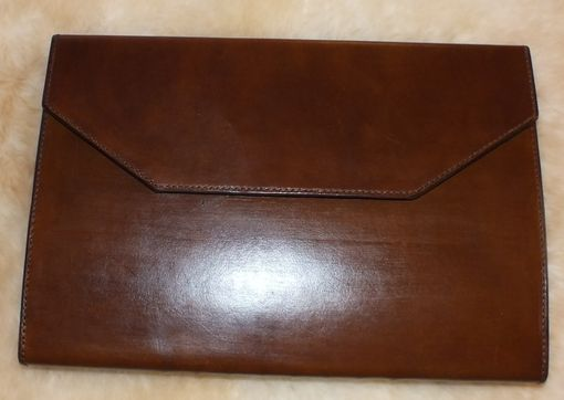Custom Made Leather Portfolio And Computer Case