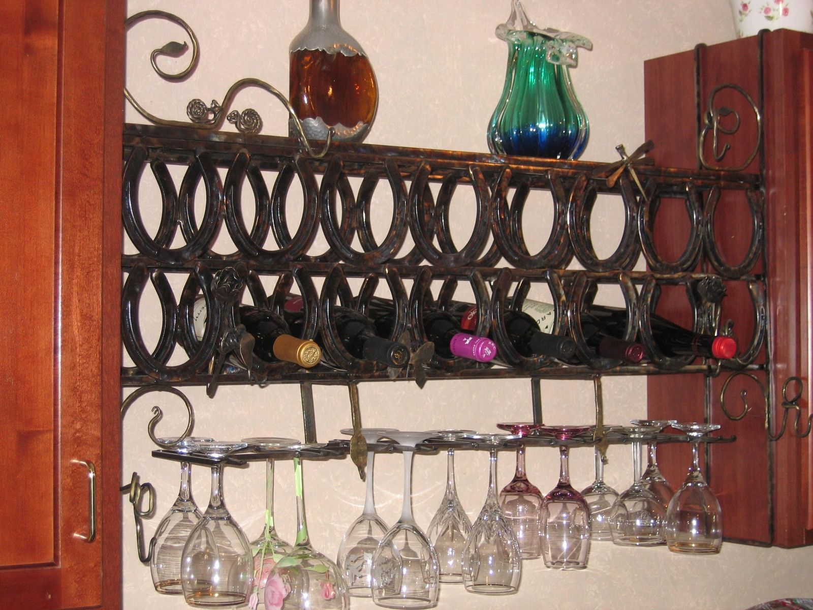 Custom Wine Rack Wall Mount By Forge On Metalworks
