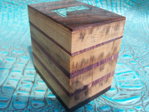 Custom Made Western-Inspired Walnut And Cedarbox With Leather Boot Inlay