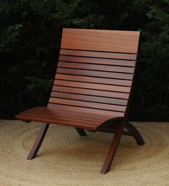Custom Made Mahogany Indoor Outdoor Barcelona Chair