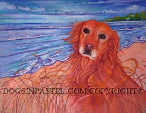 "Custom Made 13 X 19""  Custom Oil Pastel Portrait Of Your Dog Or Cat In Any Background"