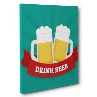 Custom Made Drink Beer Canvas Wall Art