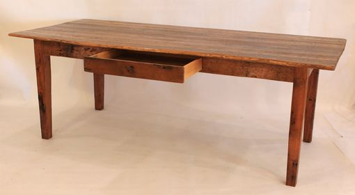 Custom Made Dt-54 American Chestnut Farm Table - Sold