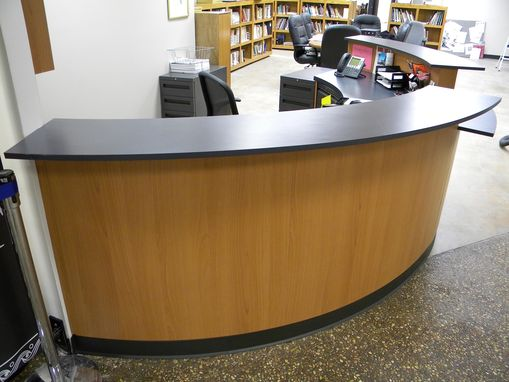 Custom Made Eliptical Reception Desk