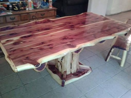 Custom Made Natural Edge Rustic Dining Table
