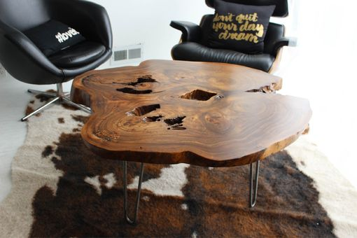 Custom Made Bookmatched Live Edge Coffee Table