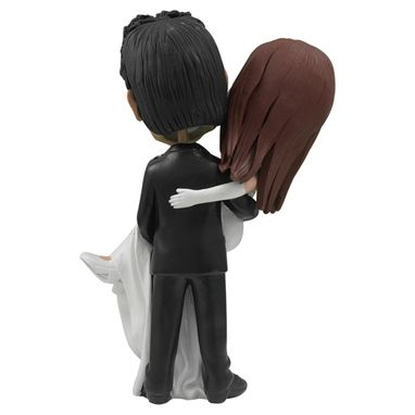 Custom Made Personalized Wedding Cake Topper Of A Groom Carrying The Bride