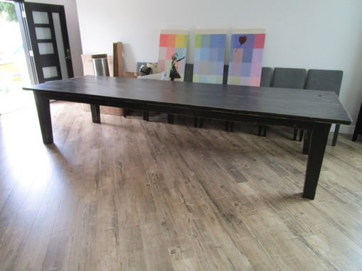 Custom Made Large Dining Table Made From Reclaimed Wood In The Usa