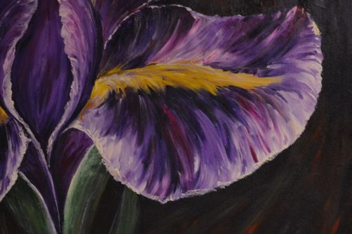 Custom Made 30x25 Original Modern Semi Impressonist Contemporary Abstract Iris Painting By Alisha