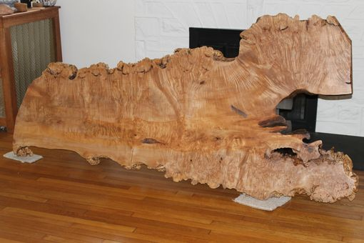 Custom Made Contemporary Slab Dining Table, Big Leaf Maple, Live Edge