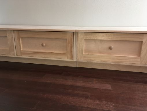 Custom Made Seating Banquette/Seating With Large Storage Drawers