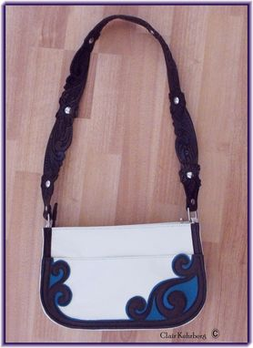 "Custom Made ""Heidi"" - Hand Tooled/ Hand Made Leather Purse"